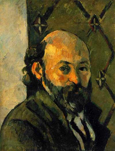 Self portrait of paul cezanne 1879
